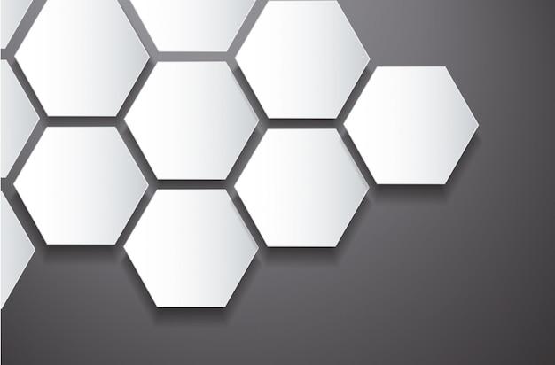 Fundo de hexágono e espaço abstrato colmeia de abelha