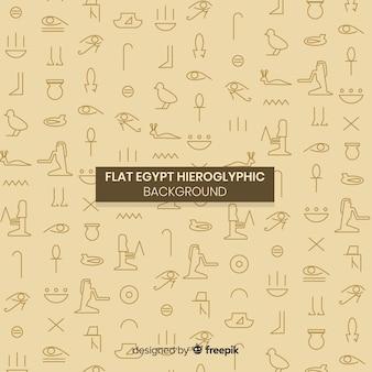 Fundo de hieróglifos antigo egito com design plano
