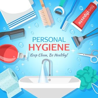 Fundo de higiene pessoal saudável