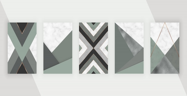 Fundo de histórias de mídia social com desenho geométrico. design moderno modelo