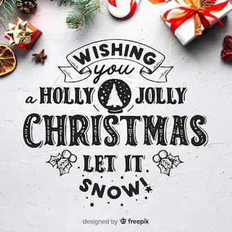 Fundo de holly jolly christmas