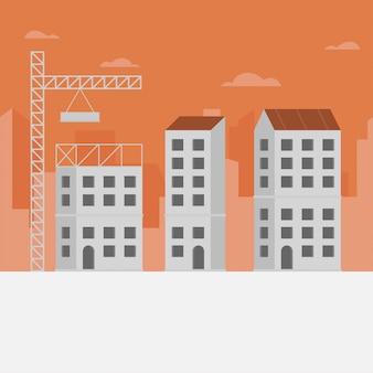Fundo de horizonte de construção