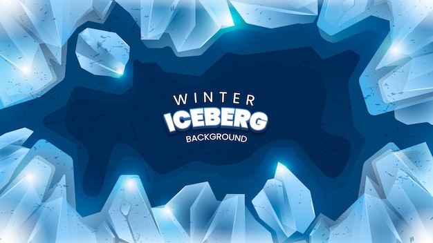 Fundo de iceberg de inverno