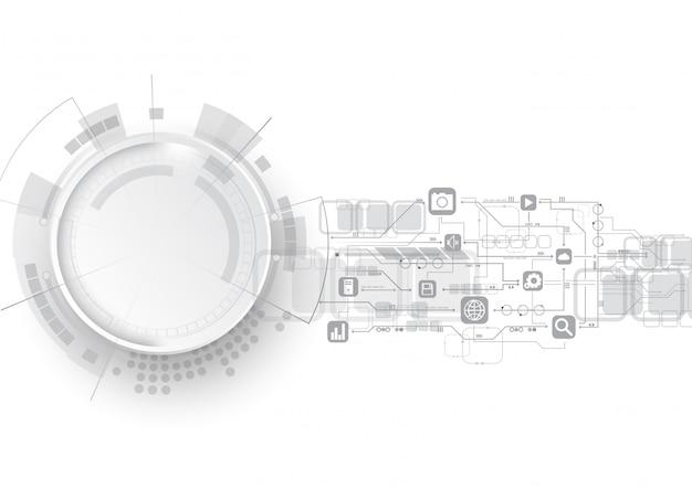Fundo de ícone de circuito de tecnologia