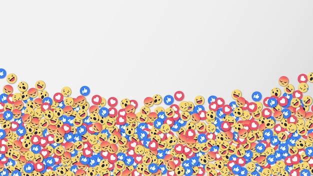 Fundo de ícone de reações de redes sociais