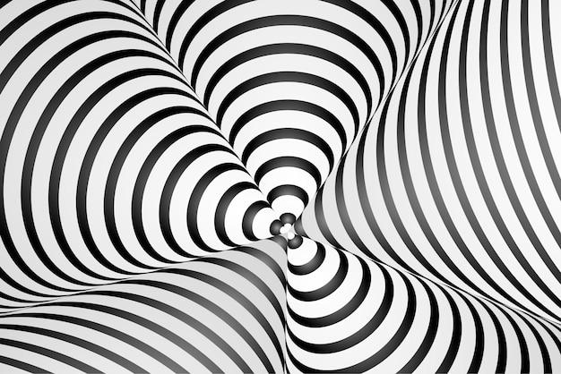 Fundo de ilusão de óptica hipnótica