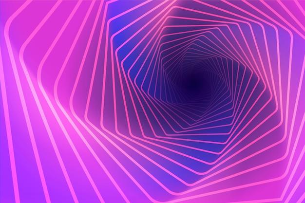 Fundo de ilusão de ótica psicodélico em espiral