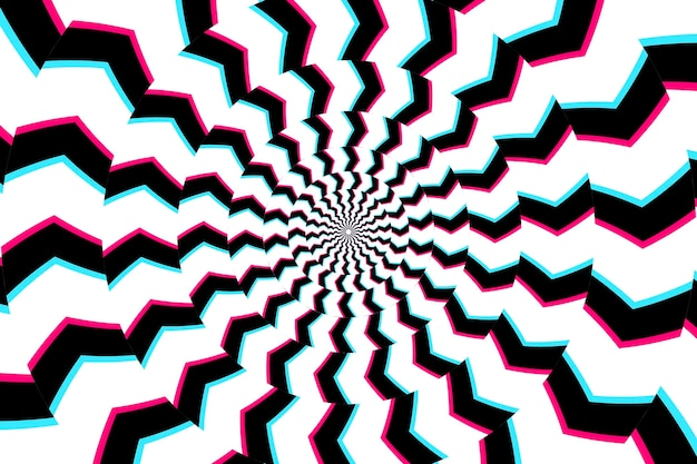 Fundo de ilusão de ótica psicodélico
