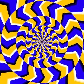 Fundo de ilusão de rotação óptica psicodélico
