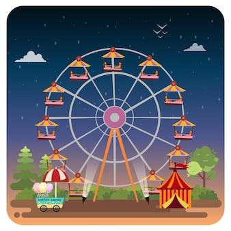 Fundo de ilustração de carnaval noturno