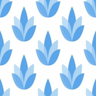 Fundo de ilustração de flores padrão sem emenda