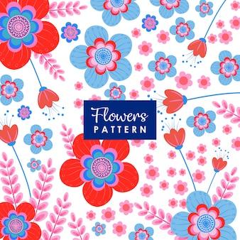 Fundo de ilustração de flores vermelhas