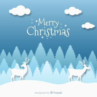 Fundo de ilustração de renas de madeira saudação de natal