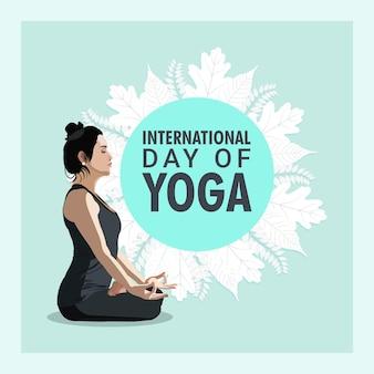 Fundo de ilustração do dia internacional da ioga