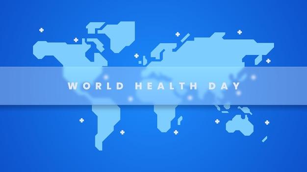 Fundo de ilustração do dia mundial da saúde