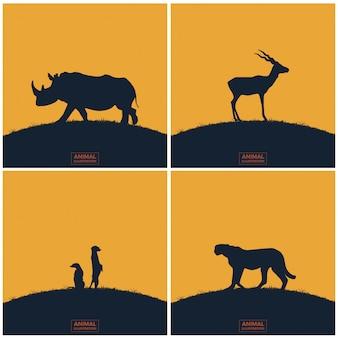 Fundo de ilustração do mundo animal