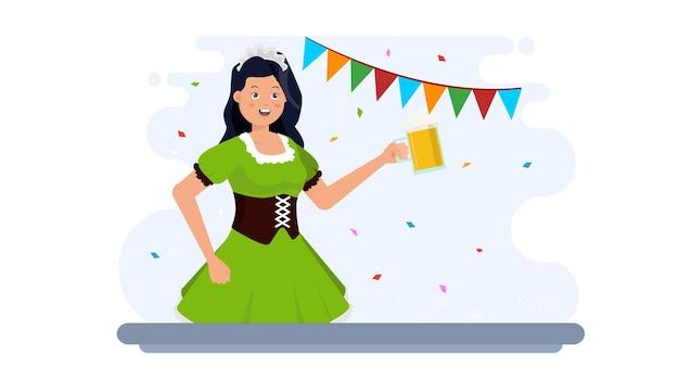 Fundo de ilustração feliz da oktoberfest