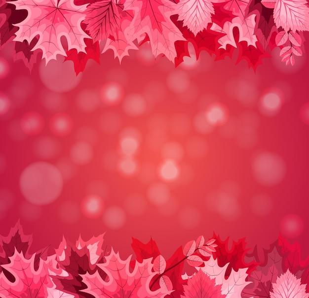 Fundo de ilustração vetorial abstrato com queda de folhas de outono. eps10