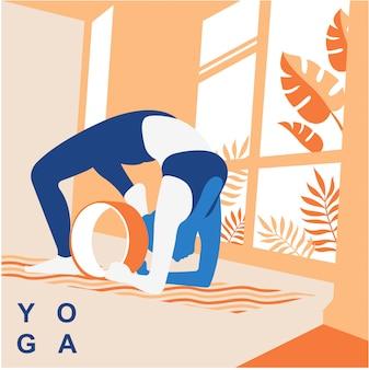 Fundo de ilustração vetorial ioga