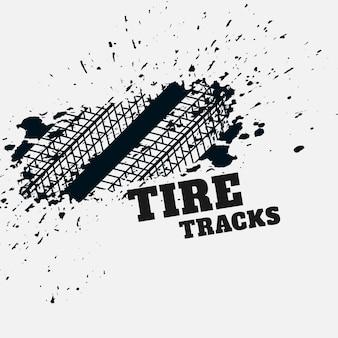 Fundo de impressão de marca de pneu de grunge