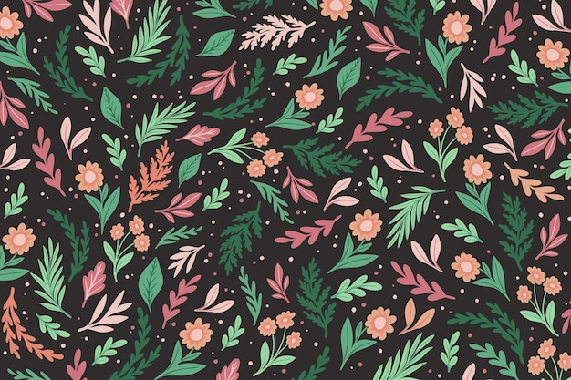 Fundo de impressão floral colorido