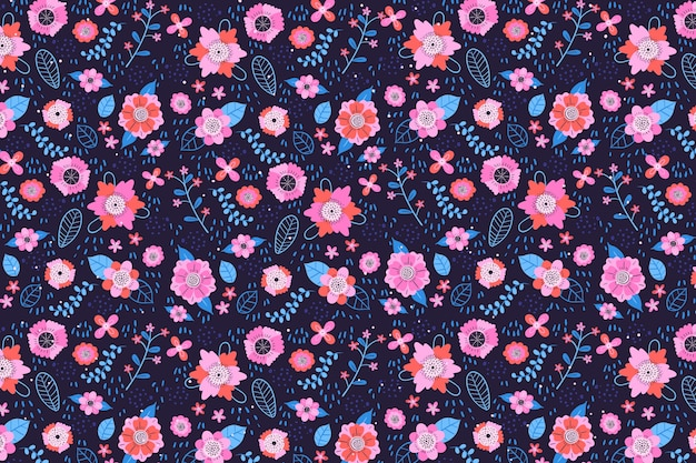 Fundo de impressão floral servindo de tecido