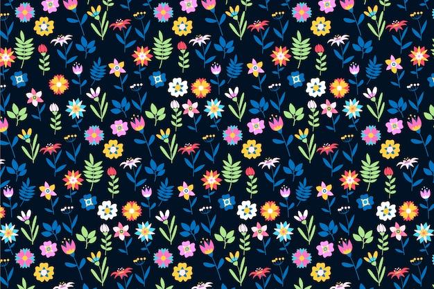 Fundo de impressão floral servindo multicolorido