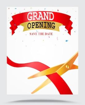 Fundo de inauguração com confete