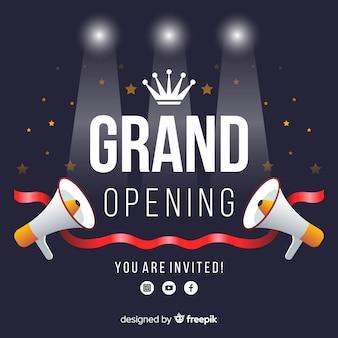 Fundo de inauguração em estilo simples