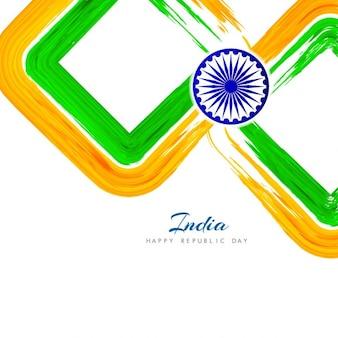 Fundo de indian dia da república no estilo da aguarela
