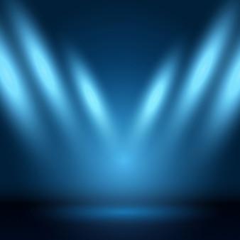 Fundo de indicador com holofotes brilhando