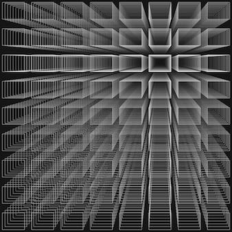 Fundo de infinito abstrata de cor preta
