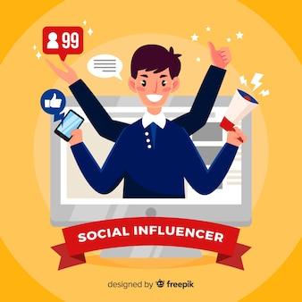 Fundo de influenciador social