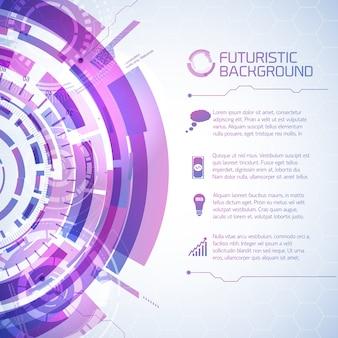 Fundo de informações de elementos fururísticos