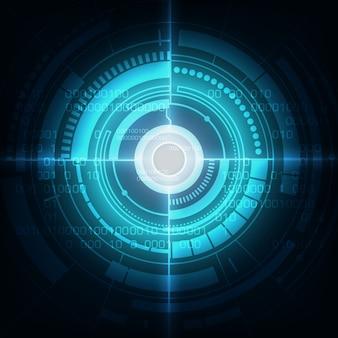 Fundo de inovação de tecnologia abstrato azul círculo