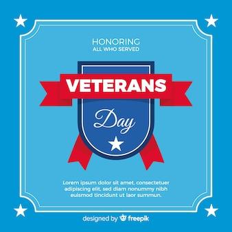 Fundo de insígnia de dia dos veteranos