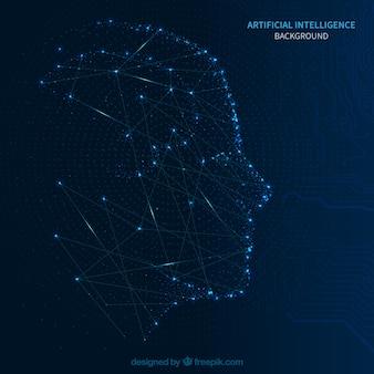 Fundo de inteligência artificial abstrata