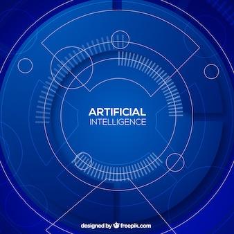 Fundo de inteligência artificial em estilo abstrato