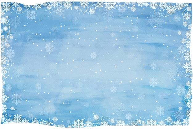 Fundo de inverno aquarela