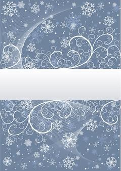 Fundo de inverno com flocos de neve