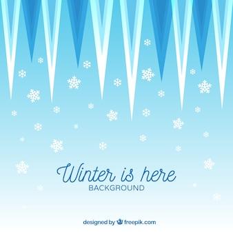 Fundo de inverno com sincelos
