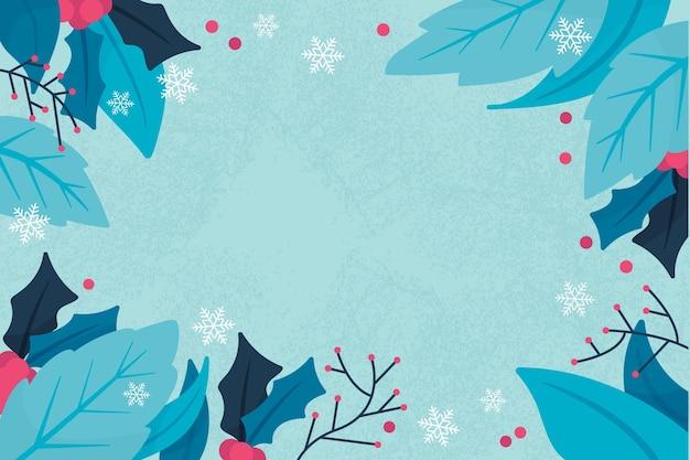 Fundo de inverno desenhado à mão