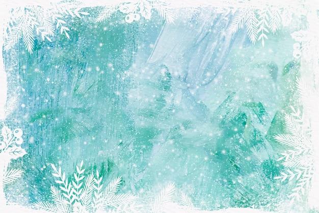 Fundo de inverno em aquarela de vidro congelado