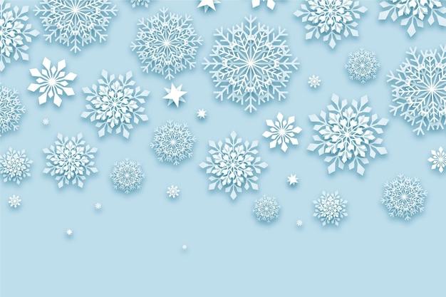 Fundo de inverno em estilo jornal