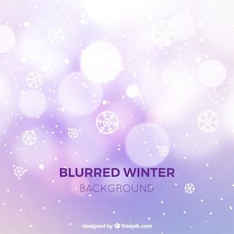 Fundo de inverno lilás borrado