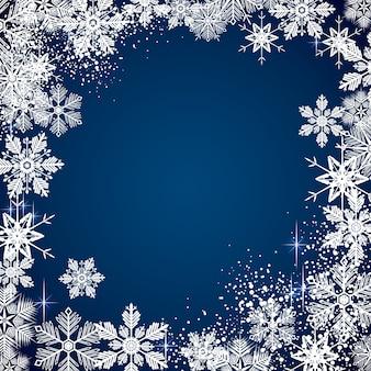 Fundo de inverno nevado