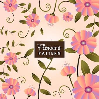 Fundo de jardim de flores cor de rosa