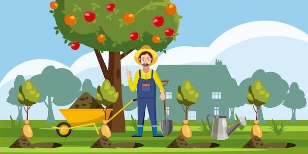 Fundo de jardineiro