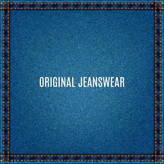 Fundo de jeans de tecido azul com textura jeans e bolso