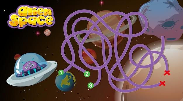 Fundo de jogo de espaço alienígena
